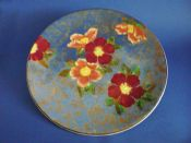 Large Rare Royal Doulton 'Wild Rose' Round Tray or Charger D6227 c1950
